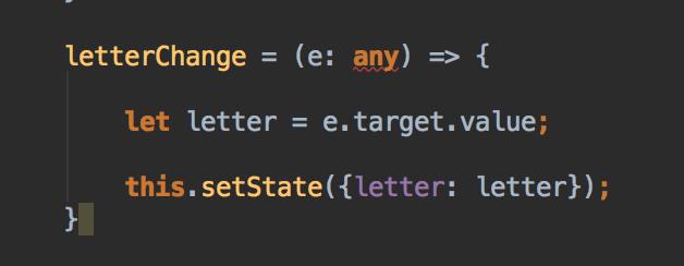 ReactJS Listing Filter Code des onChange Events - Databinding