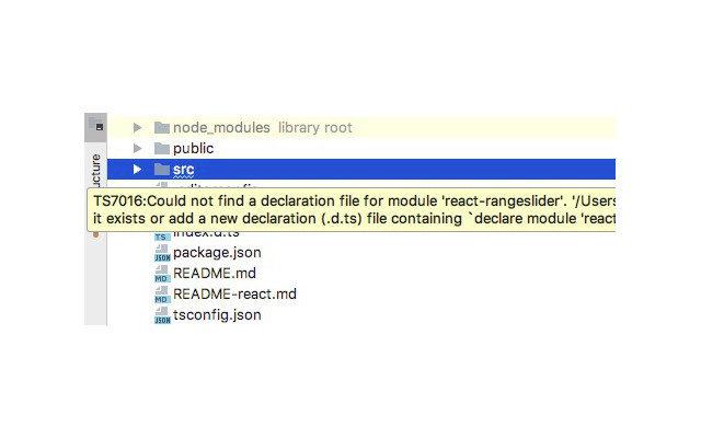 ReactJS Typendefinition nicht gefunden