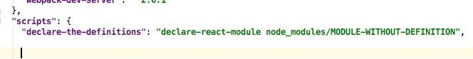 ReactJS declare-react-module